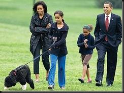 Bo and Obamas
